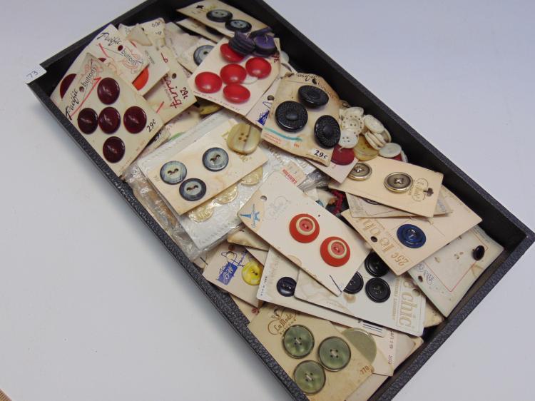 Assorted Vintage Plastic Button Lot