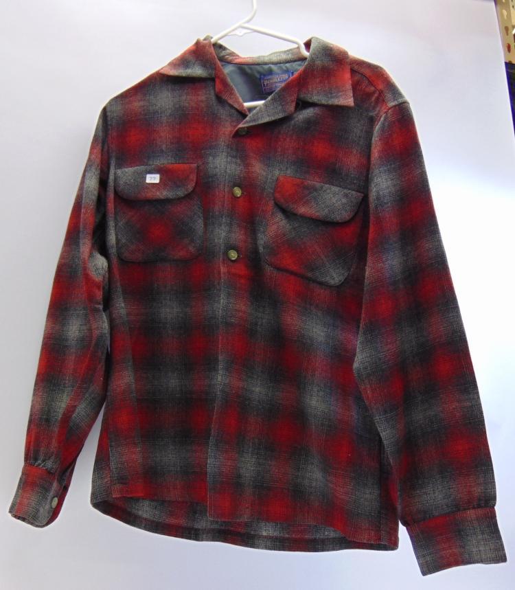 Pendleton Wool Plaid Shirt Size M