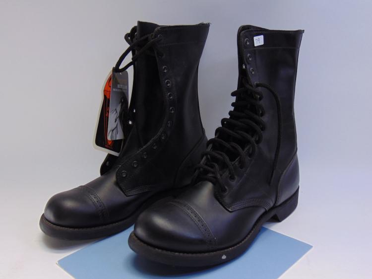 Lot 79: New Corcoran Leather Paratroop Jump Boots Sz 10C