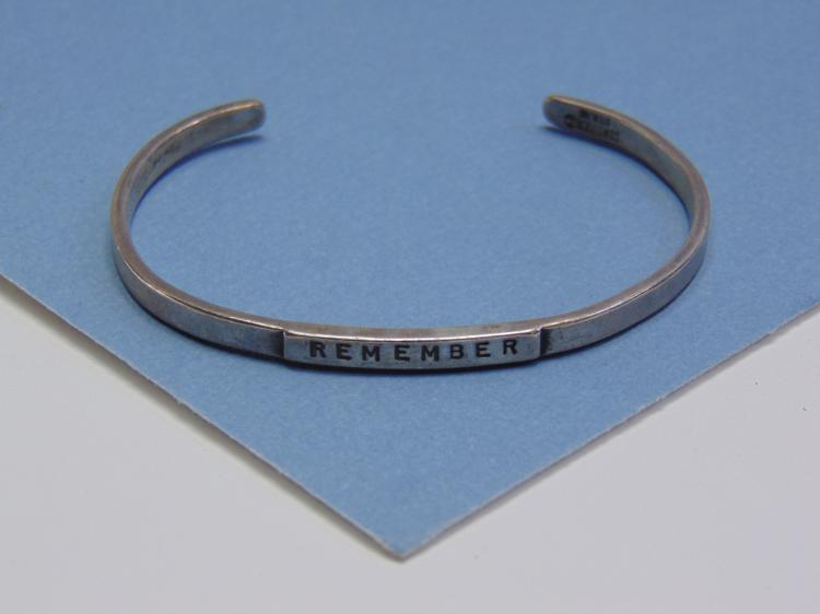 10.2g Sterling Silver Remember Cuff Bracelet
