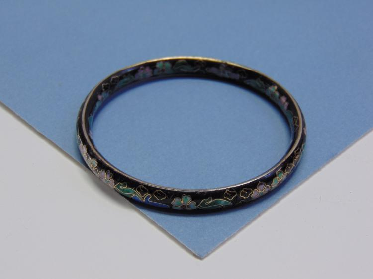 Vintage Flower Cloisanne Bangle Bracelet
