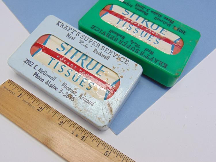 Lot 101: Vintage Advertisement Car Visor Tissue Box Lot