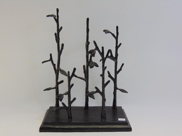Vintage Metal Jewelry Tree