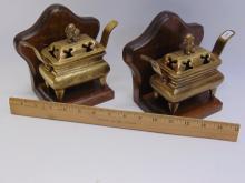 Lot 108: Vintage Brass Foo Dog Bookends