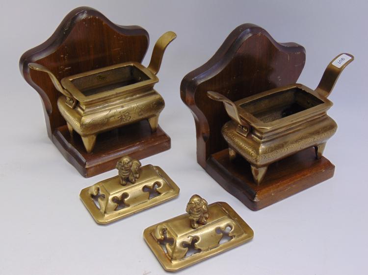Vintage Brass Foo Dog Bookends