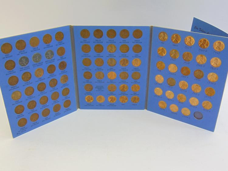 Lot 112: 1941-1974S Complete US Cent Coin Folder