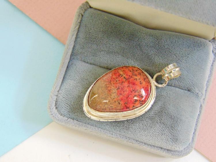 9.3g Sterling Silver Jasper Pendant