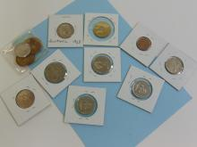 Lot 121: Assorted Foreign Carded Coin Lot Of 13