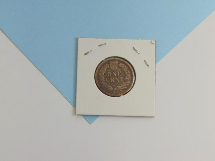 Lot 125: 1894 Indian Head Cent US Carded Coin
