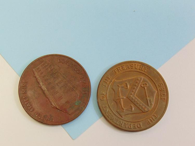 Vintage Brass & Bronze US Denver Mint Medallions