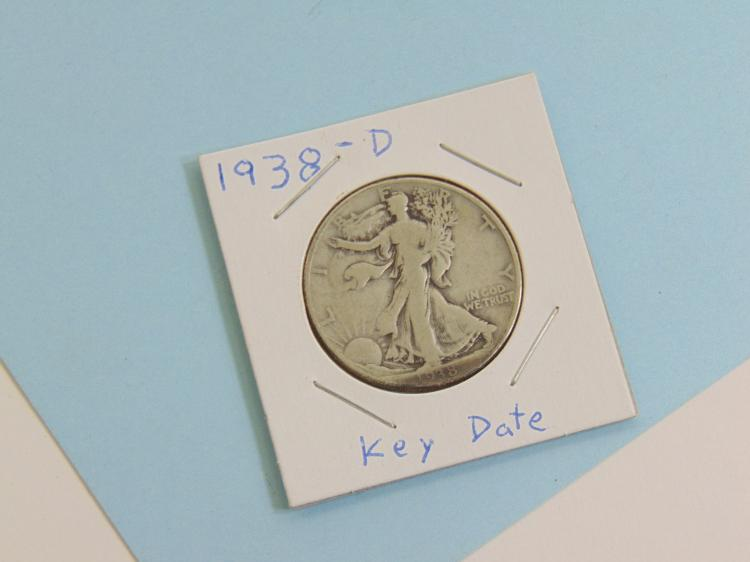 1938-D Walking Liberty Half Dollar US Coin
