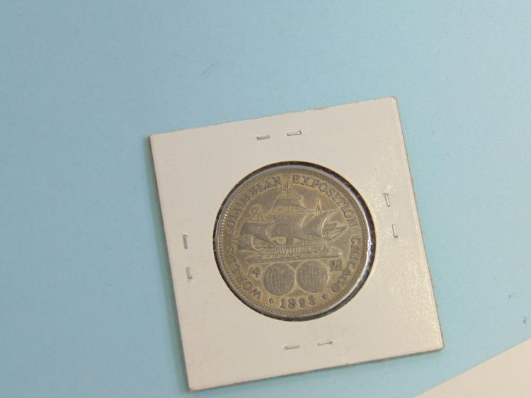 Lot 131: 1893 Columbian Half Dollar US Carded Coin