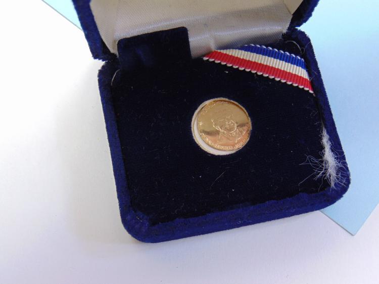 .93g 14K Gold Danbury Mint Reagan Coin