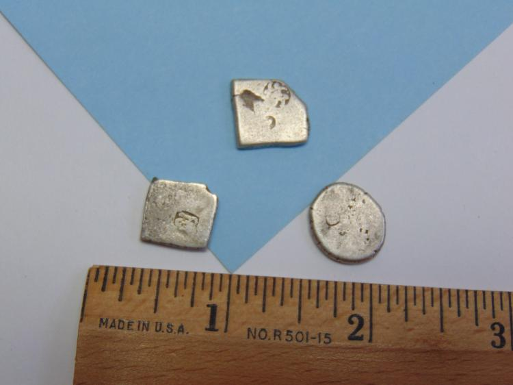Lot 140: 250BC India Punch Mark Silver Coin Lot Of 3