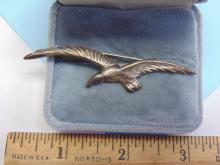Lot 144: Vintage 6.8g Sterling Silver Eagle Mexico Brooch