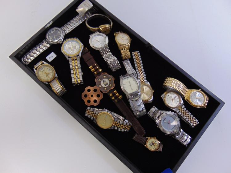 Assorted Mens Dress & Sports Watch Lot Of 14