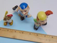 Lot 150: Vintage Occupied Japan Ceramic Baseball Figurines