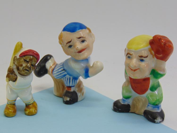 Vintage Occupied Japan Ceramic Baseball Figurines