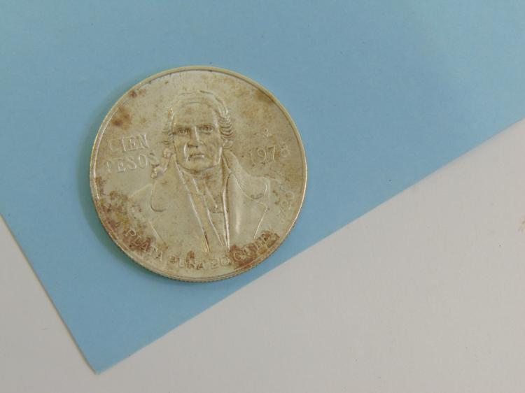 1978 Cien Pesos Mexico 72% Silver 720 Coin