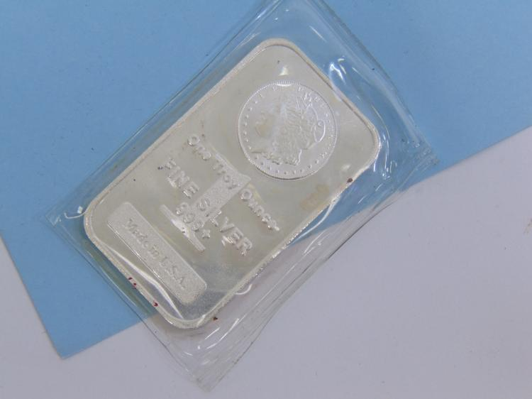 Lot 167: One Troy Oz 999 Fine Silver Morgan Ingot