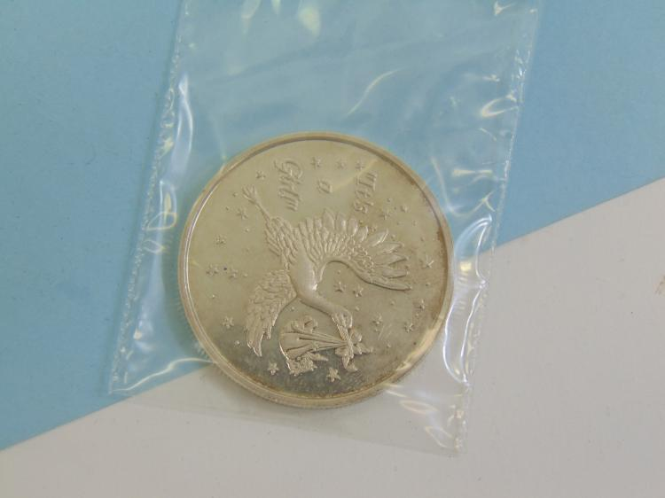 Lot 168: One Troy Oz 999 Fine Silver Its A Girl Coin Ingot