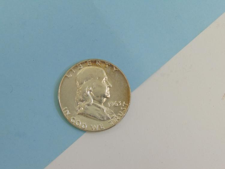1963 Franklin Half Dollar US Coin