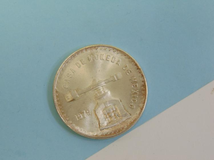 Lot 171: 1979 One Troy Oz 925 Sterling Mexico Coin Ingot