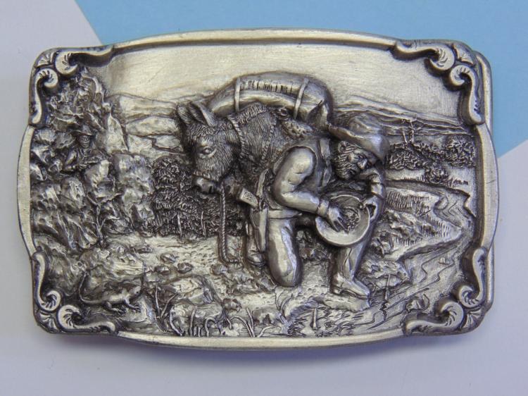Bergamot Brass Works Gold Panner Belt Buckle