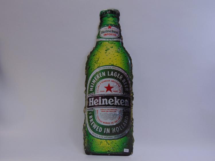 Heineken Advertisement Embossed Tin Sign