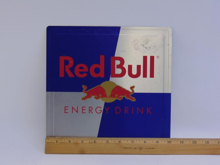 Lot 193: Red Bull Embossed Advertisement Tin Sign