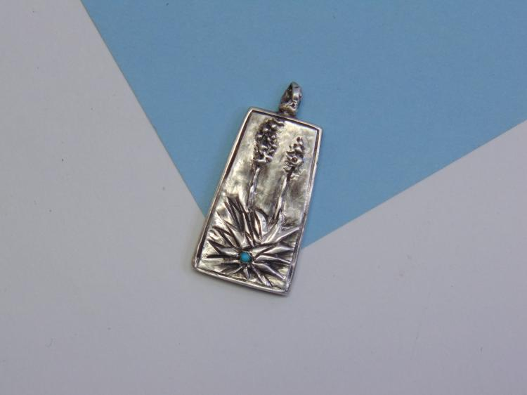 13g Sterling Silver Yucca Plant Pendant