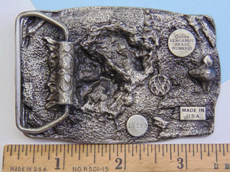 Lot 198: Bergamot Brass Works Gold Panner Belt Buckle