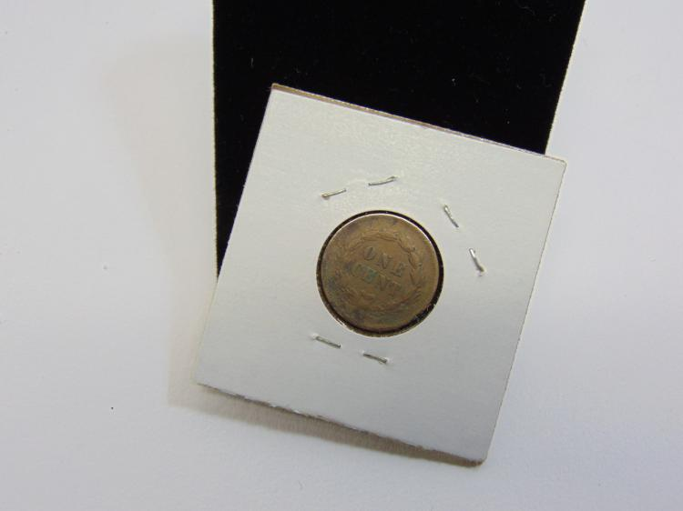 1859 Indian Head Cent US Carded Coin