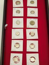 Lot 4: Lot Of 12 Us Mint Mercury Roosevelt Dimes And Washington Quarters Silver Coins