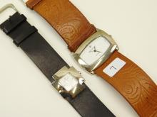 Lot 7: Lots Of Two Ladies Silpada Peyote Bird Designs Ladies Wrist Watches With Leather Bands