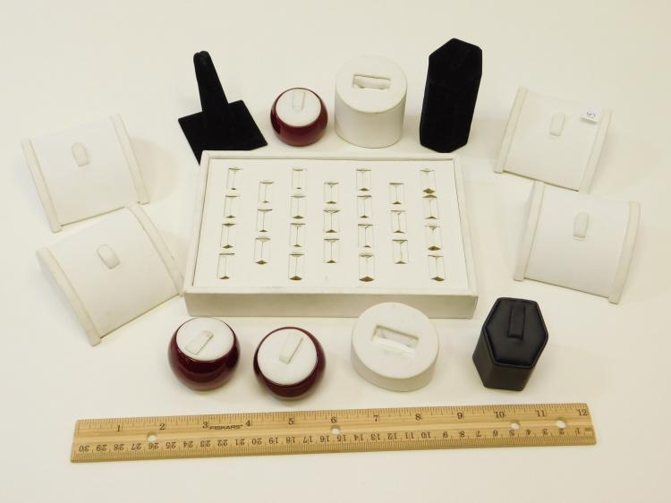 Lot 15: Lot Of Assorted Jewelry Ring Displays