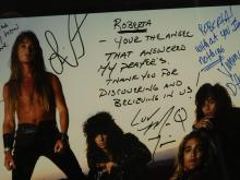 Lot 17: Vintage The Bullet Boys Roberta Peterson Autographed Band Promotional Poster