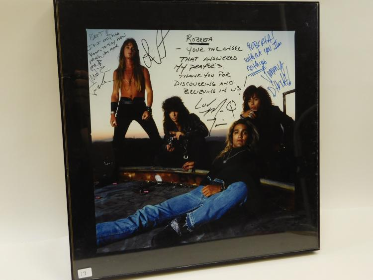 Vintage The Bullet Boys Roberta Peterson Autographed Band Promotional Poster