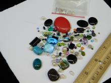 Lot 19: 240 Ct Lot Of Mixed Semi-Precious Small And Large Gemstones Removed From Gold And Silver Jewelry