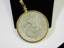 Lot 20: United States Mint Bicentennial Eisenhower One Dollar Pendant Coin