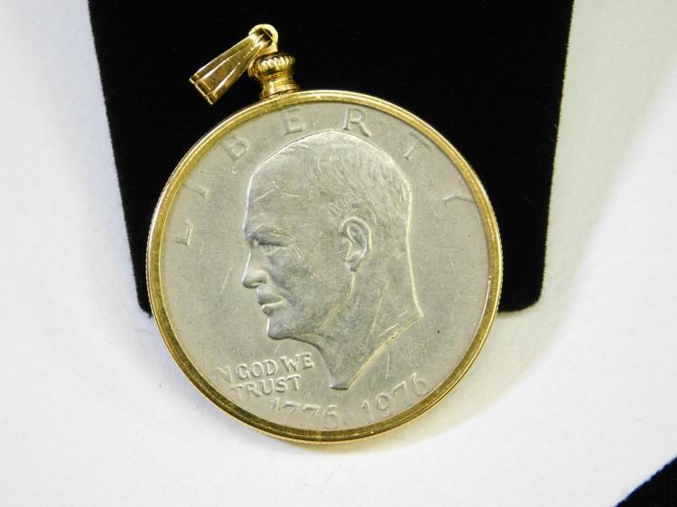 United States Mint Bicentennial Eisenhower One Dollar Pendant Coin