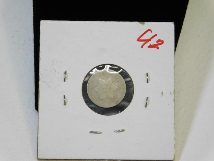 Lot 25: 1851-1853 Us Mint 3 Cent Star Silver Coin