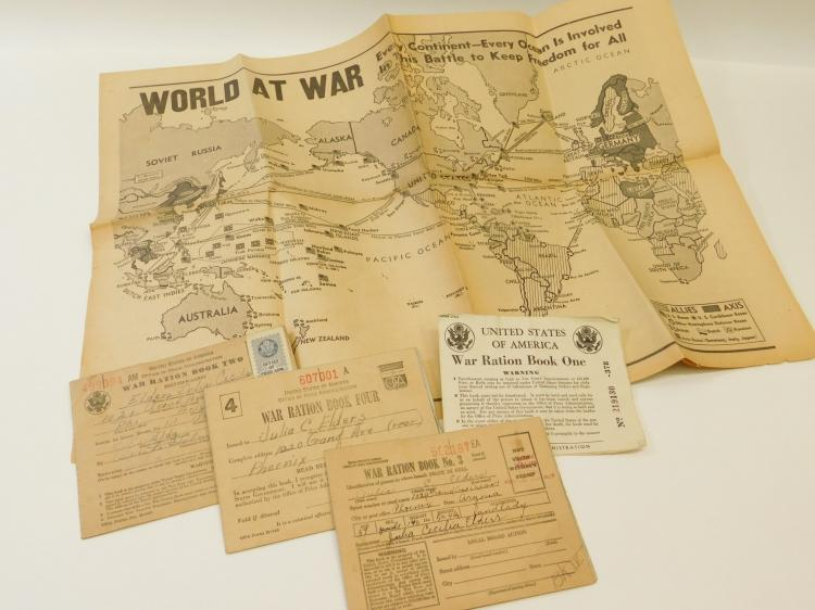 World War Ii World At War Newspaper And Army War Ration Books