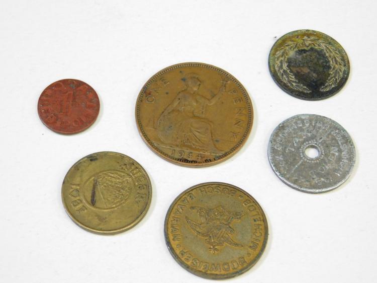 Vintage Michelob Budweiser Busch Bavarian Beer Token Tax Token Foreign Coin And Game Token Lot