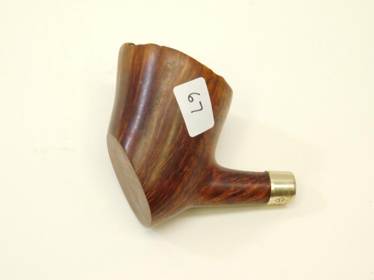 Vintage Hand Carved Burlwood Estate Smoking Pipe Made In Denmark