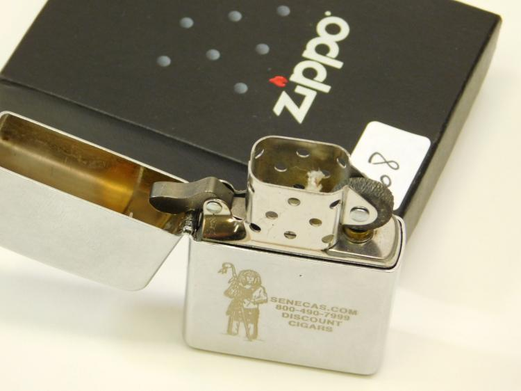 2007 Zippo Senecas.Com Discount Cigars Advertising Lighter In Original Box Unused