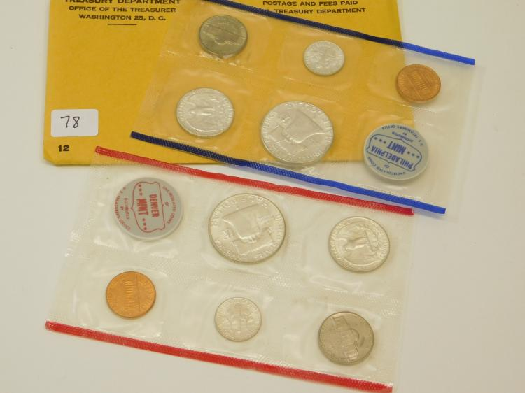1961 United States Mint Philadelphia And Denver Silver Collector Set