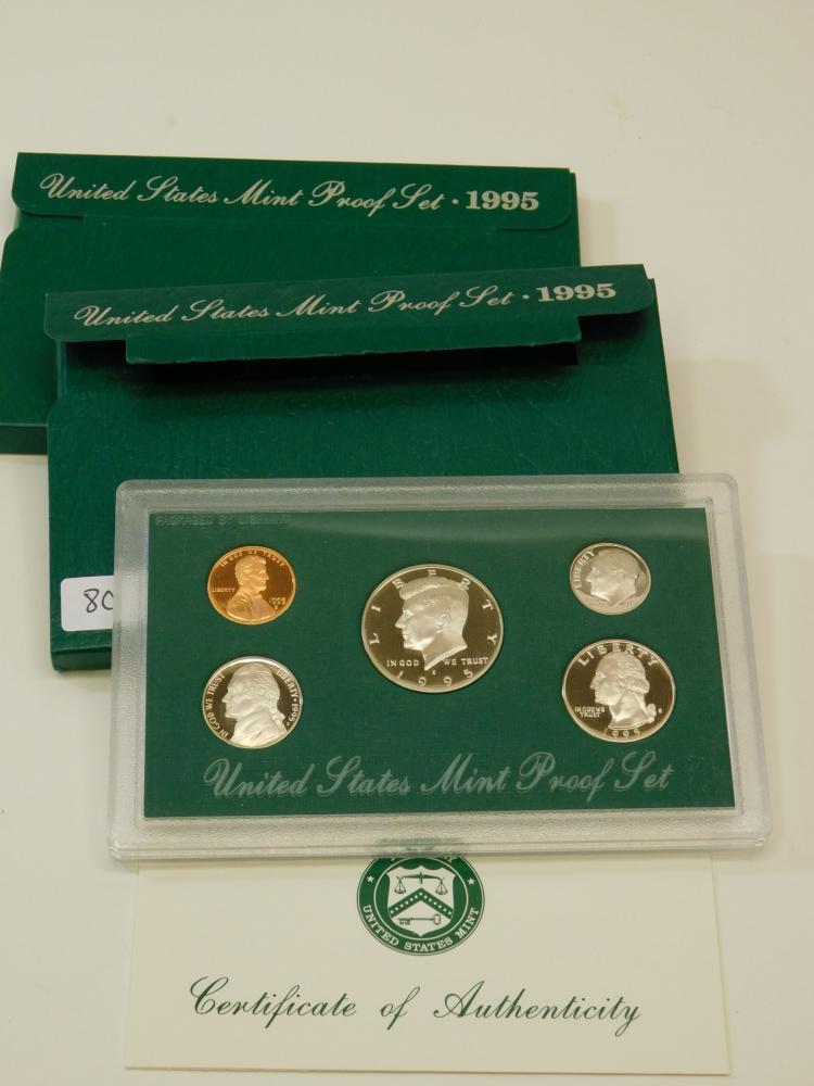 Lot Of 2 1995 United States Mint Proof Sets