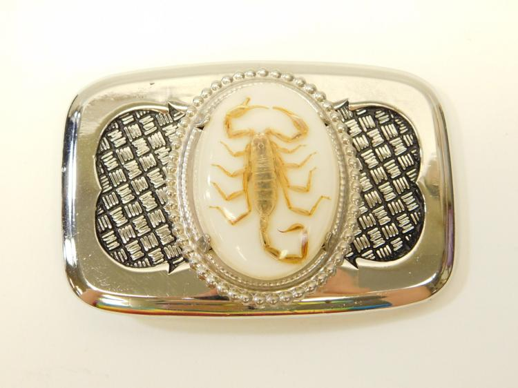 Vintage Encased Scorpion Belt Buckle