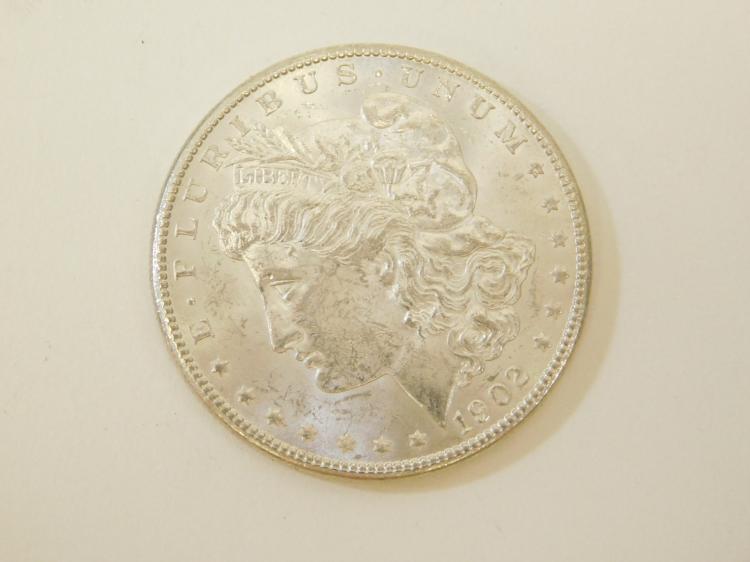 1902 O Us Mint Bu Bright Uncirculated Morgan Silver Dollar